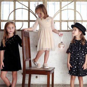 Vestidos Negros De Niñas Para Fiestas Gro Otoño Invierno