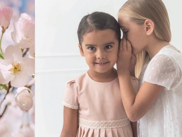 vestidos para nenas mangas cortas Magdalena Esposito invierno 2018