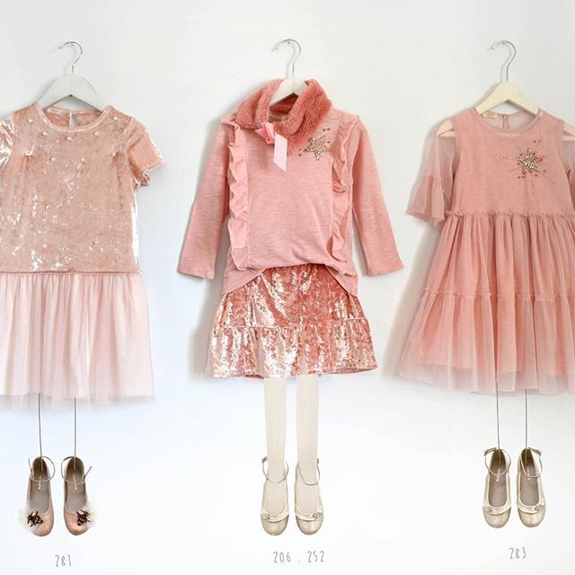 vestidos rosados de fiesta para niñas Gro otoño invierno 2018