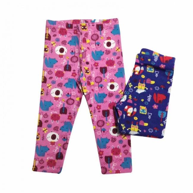 Calzas para niñas con estapas coloridas Naranjo otoño invierno 2018