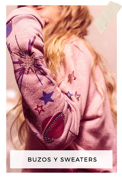 buzos con apliques bordados rapsodia girls invierno 2018