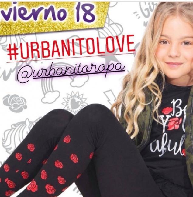 calzas con estampas rosas nena urbanito invierno 2018