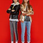 camperas de cuero o metalizadas para chicas con jeans queen juana invierno 2018