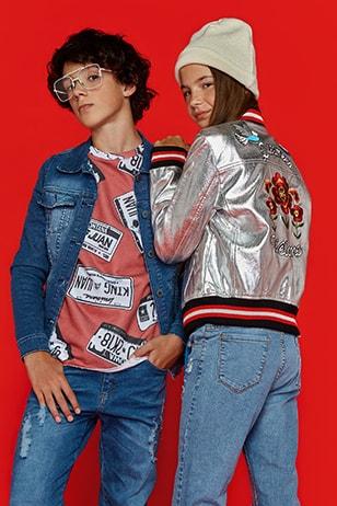 camperas de jeans y bomber metalizada bordada para adolescentes queen juana invierno 2018