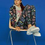 conjunto de calza y campera estampados teenajer queen juana invierno 2018