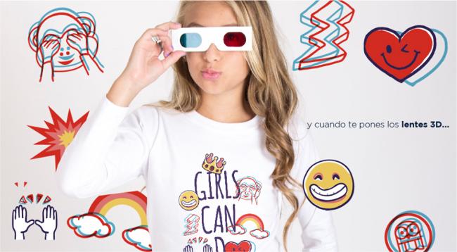 remera en 3d para niñas pecosos invierno 2018