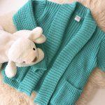 saco largo tejido lana niña pompas invierno 2018