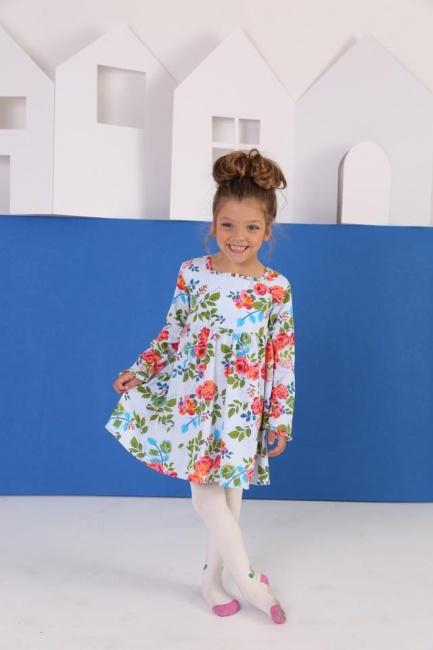 vestido DE ALGODON floreado mangas largas para niñas Zuppa otoño invierno 2018