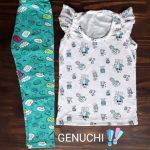calzas estampadas y musculosas para niñas Genuchi verano 2019