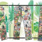 calzas para niñas con estampas florales tropicales babu primavera verano 2019