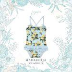 malla celeste estampa limon niña Madrehijas swim suits verano 2019