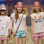 remeras con brillo y shores para niñas moda infantil verano 2019