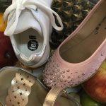 sandalias doradas balerinas con tachas niñas ferli primavera verano 2019