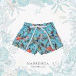 short de baño estampa flores y pajaros Madrehijas swim suits verano 2019