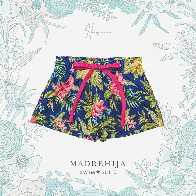 short de baño estampa tropical Madrehijas swim suits verano 2019
