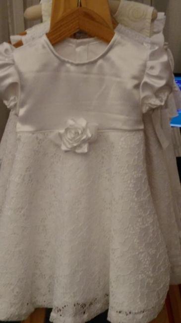 vestido de fiesta bautismo blanco para beba TG verano 2019