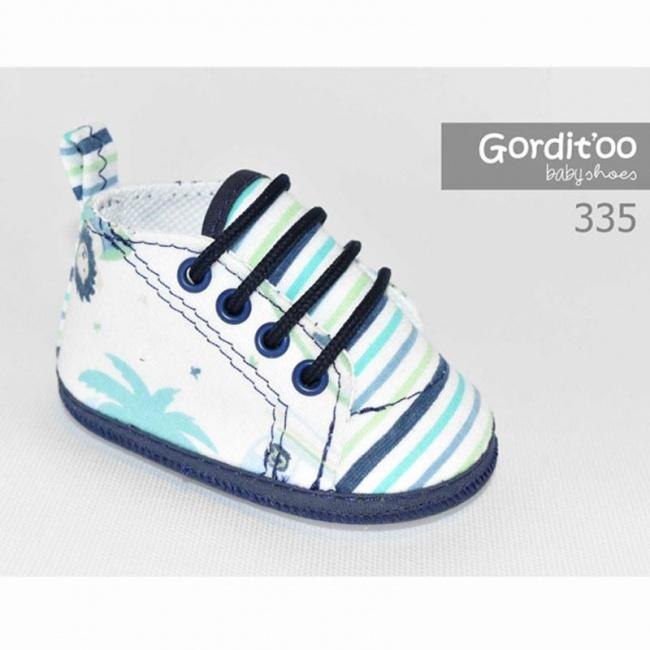 Zapatillas para bebes gorditto rayas azules primavera verano 2019