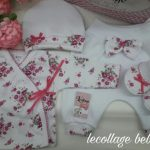 ajuar bebba lecollage blanco y rosa verano 2019