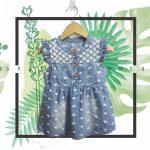 vestido denim beba babu moda infantil primavera verano 2019