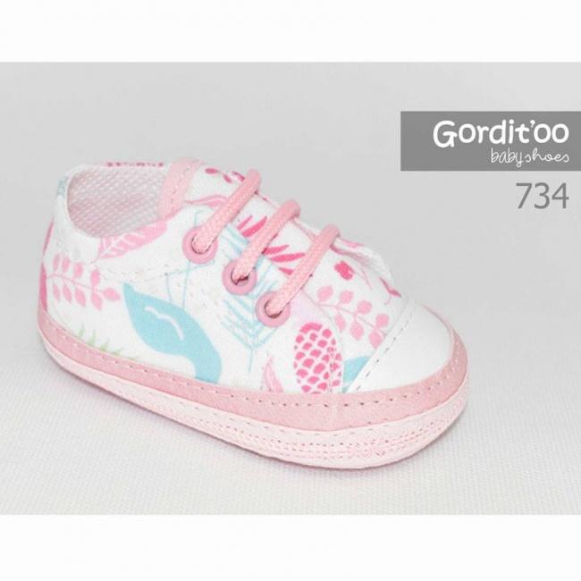 zapatilla beba blanca detalle tropical gorditoo primavera verano 2019