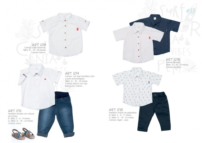 Jeans y camisas para bebes primavera verano 2019