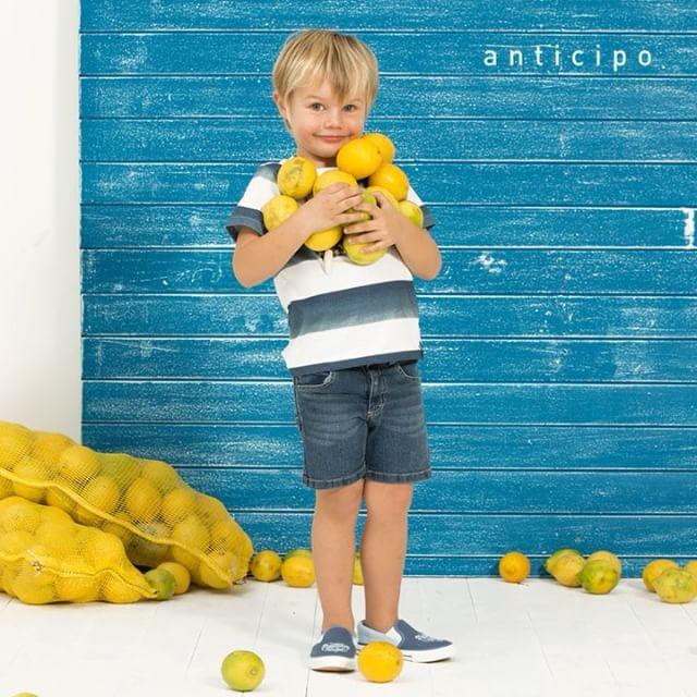 bermuda jeans y remera a raya niño mimo co verano 2019