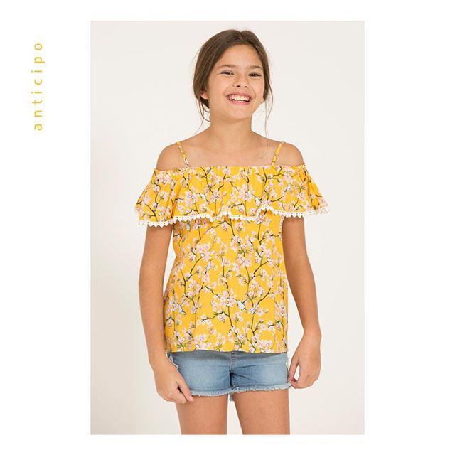 blusa con volado para niñas mimo co verano 2019