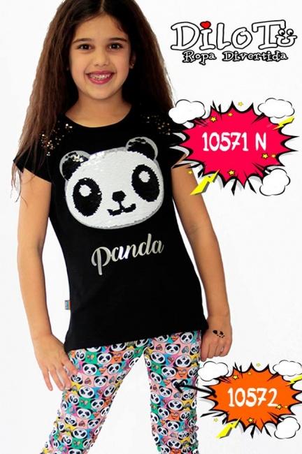 calza y remera panda nena Dilo tu primavera verano 2019