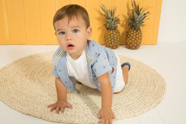 camisa mangas cortas bebe minimimo co Verano 2019