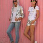 campera metalizada short metalizado niñas grandes Mimo Co Junior verano 2019