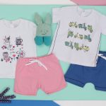 conjunto de short y remera de algodon para bebes Soft Red Primavera verano 2019