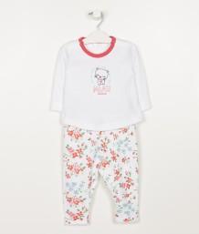 conjutno remera y pantalon algodon beba minimimo primavera verano 2019