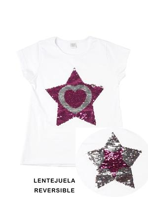 estrella reversible remera para niñas Paul Carty verano 2019