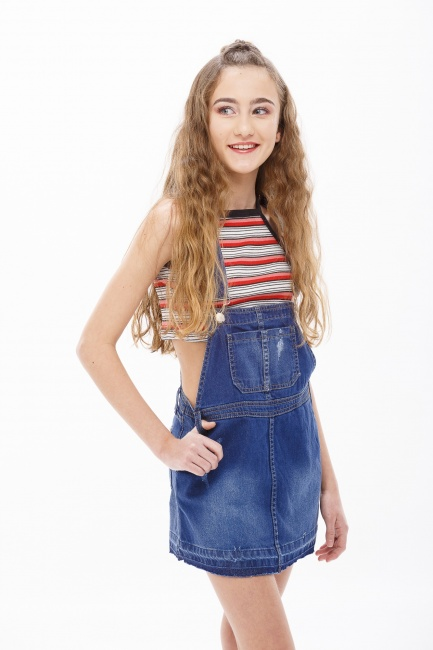 jardinero pollera jeans para chicas adolescentes So Cippo verano 2019
