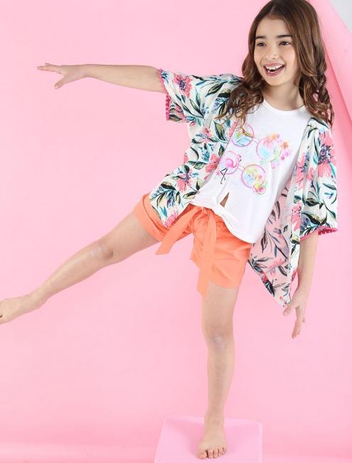 kimono estampado para niña Soft Red Primavera verano 2019