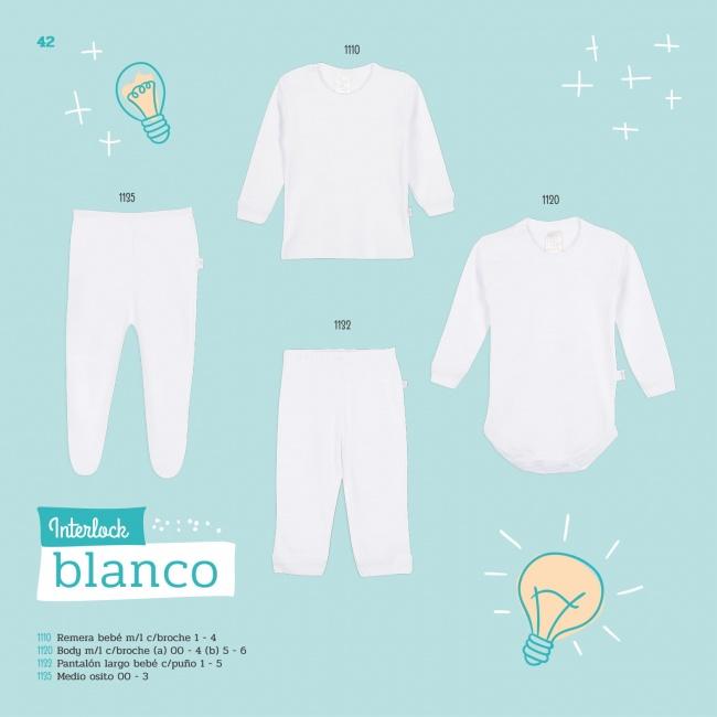 linea interlock blanco bebe Naranjo verano 2019