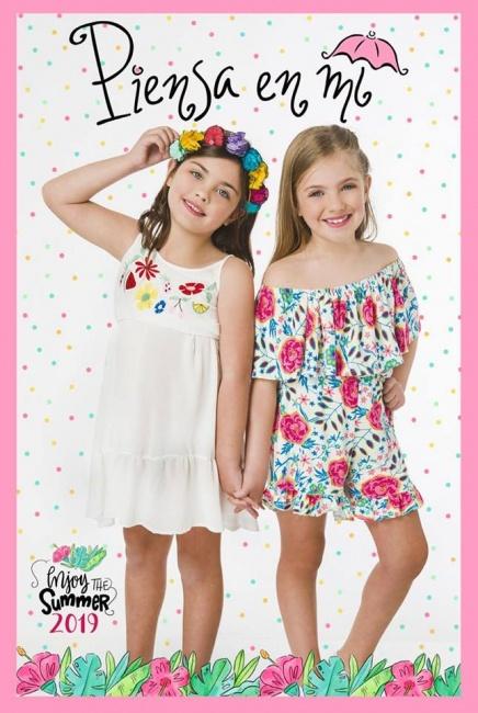 monos y vestidos para niñas Piensa en mi primavera verano 2019