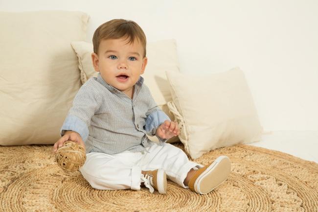 pantalon blanco para bebe minimimo co Verano 2019