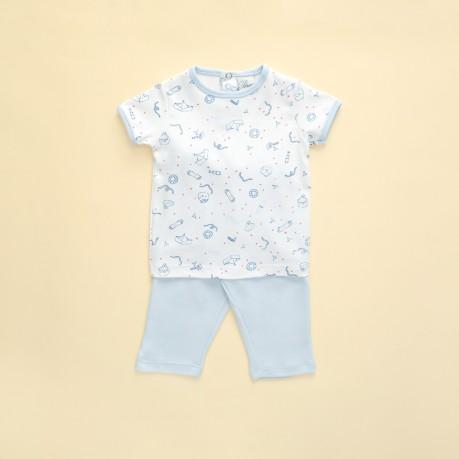 pantalon y remera mangas cortas bebes Broer Enfants verano 2019