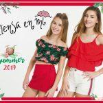 polleras y short con blusas y top para nenas Piensa en Mi primavera verano 2019