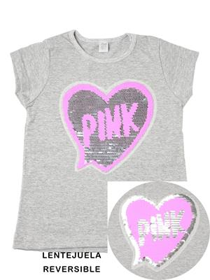 remera corazon pink lentejuelas Paul Carty verano 2019