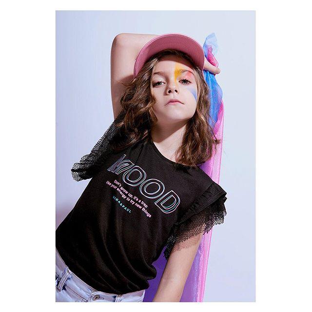 remera niña con puntilla en mangas Nina & Pauls verano 2019