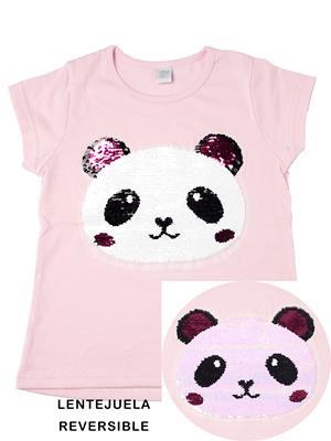 remera panda de lentejuela niña Paul Carty verano 2019