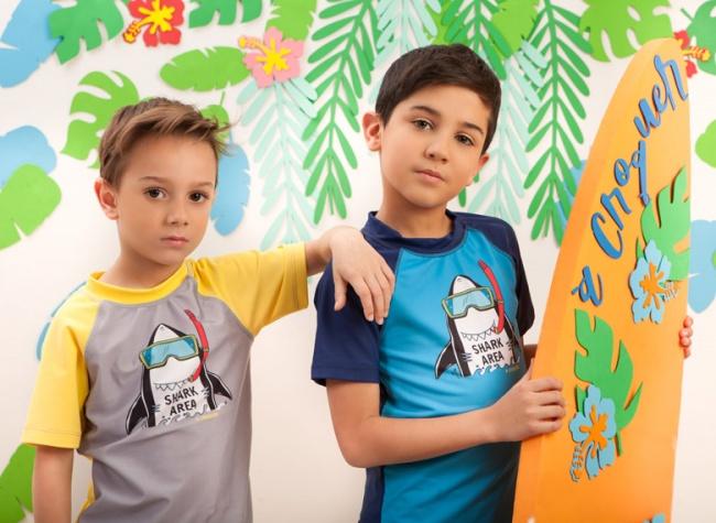 remeras con proteccion uv niños a croquer verano 2019