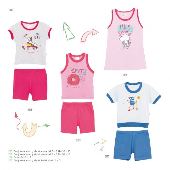 remeras y musculosas con estampas para bebes Naranjo verano 2019