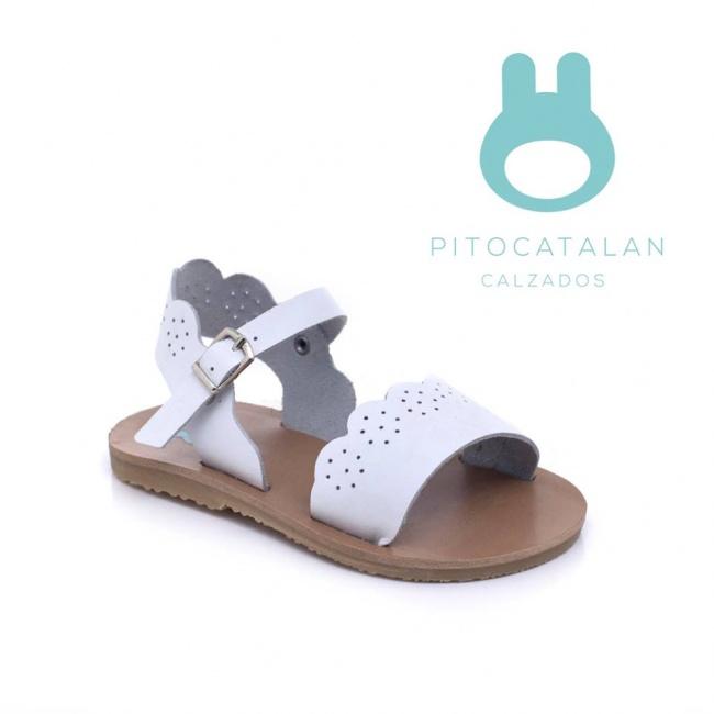 sandalia beba blanca Pitocatalan Primavera verano 2019