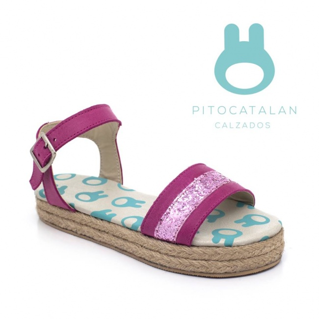sandalia con brillo para niña Pitocatalan Primavera verano 2019