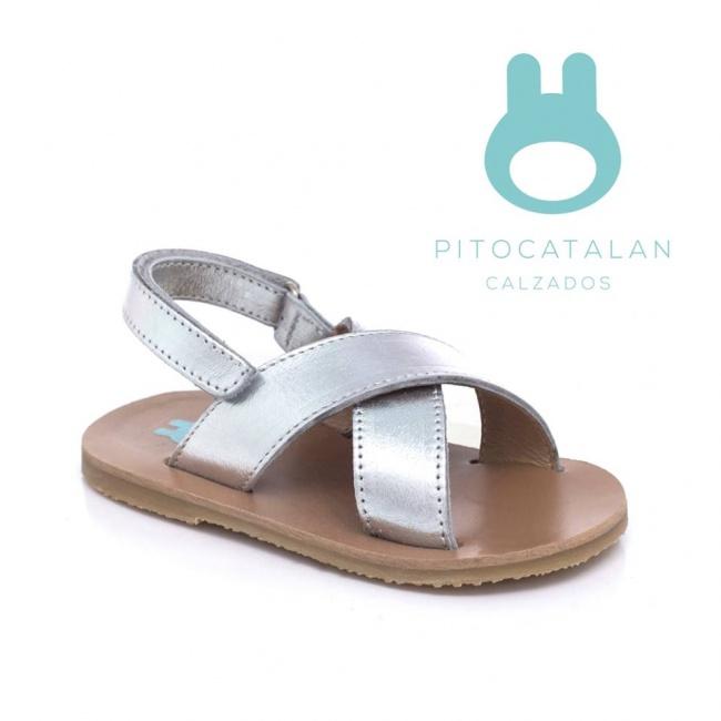 sandalia de cuero tiras gruesas abrojo Pitocatalan Primavera verano 2019