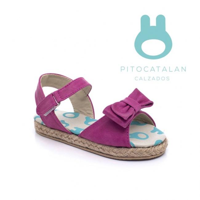 sandalia niña con moño Pitocatalan Primavera verano 2019