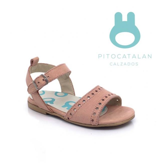 sandalia rosa cuero sandalia de cuero Pitocatalan Primavera verano 2019